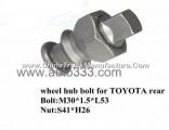 10.9 wheel hub bolt for truck TOYOTA rear