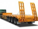 3 Axle 40t 50ton/60ton/70ton Low Bed Semi Trailer for Transportation