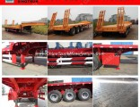 3 Axles Flatbed Trailer for Tractor 60 Tons