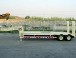 Double Axles Low Bed Semi Trailer for Sale
