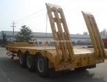 3-5 Axles 50-80tons Extendable Low Bed Semi Truck Trailer