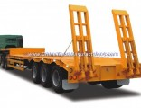3 Axles Low Bed Semi Trailer for Zambia