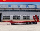 3 Axles 30t-46t Low Bed Semi Trailer Foot Flatbed Trailer Truck Parts