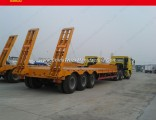 3 Axles Flatbed Container Carrier Low Bed Semi Trailer Truck Trailer