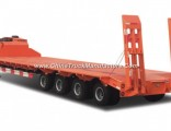3 Axles 50-80 Tons Low Bed Semi-Trailer Truck for Sale
