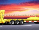 3 Axles Gooseneck Low Bed Semi Trailer 50-80t Lading Capacity