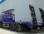 Dongfeng 6X4 12tons Flat-Bed Truck Low-Bed Tow Truck