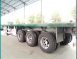 Sinotruk BPW Flat-Bed 3 Axle Truck Trailer 40FT Container Semi Trailer