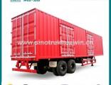 China Supplier 2 Axles 130 Cbm Van Cargo Semi Trailer for Sale