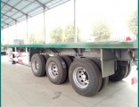 Sinotruk 3 Tri Axle BPW Flat-Bed Truck Trailer 40FT Container Semi Trailer
