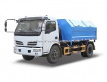 4X2 6cbm Dongfeng Detachable Container Garbage Truck