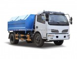 4X2 8ton 6cbm Dongfeng Detachable Container Type Garbage Truck