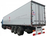 3 Axles 30tons 40tons -15 Degree Cooling Freezer Semi Trailer Refrigerator with Carrier Independent