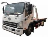 FAW 4X2 4tons Winch Flat Bed Wrecker Truck