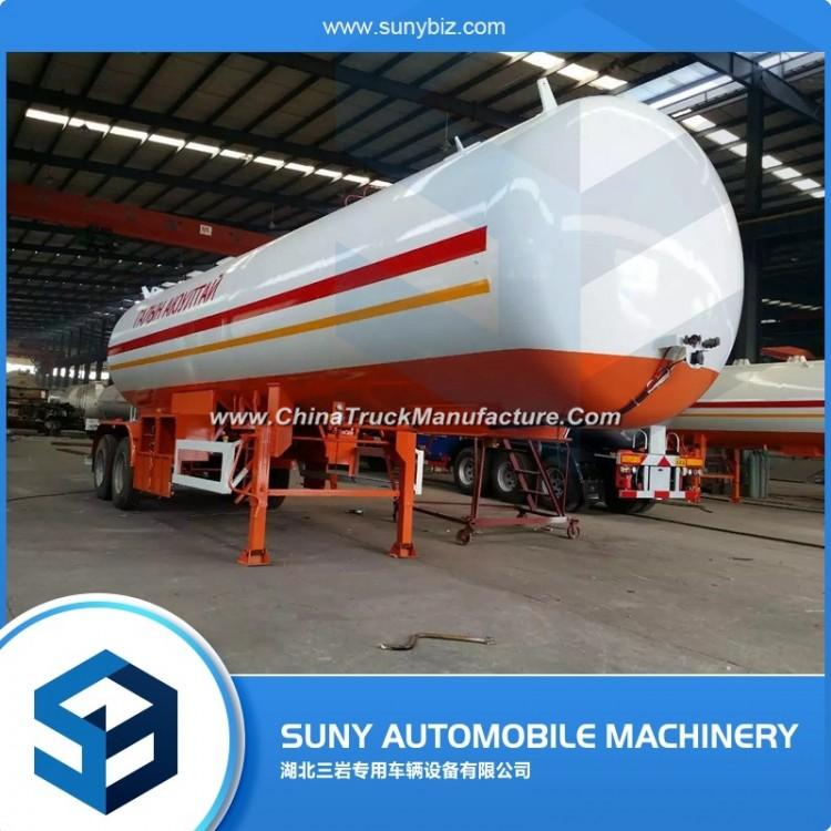 Liquefied Petroleum Gas Transport 2 Axles 40.5 M3 LPG Tank Trailer