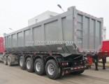 Factory Price 50cbm 4 Axles Rear Hydraulic Lift Dump Trailer
