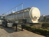 3 Axle 21000 Liters ′′v′′ Shape Sulfuric Acid Tank Semi-Trailer