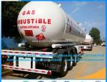 56cbm LPG Tanker Vessel Compress Gas Trailer LPG Transportation Trailer LPG Gas Tank Trailer LPG Sem