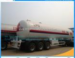 Factory Direct Sales 56cbm 3axles 25ton Liquid Gas Semi-Trailer Liquid Gas Tanker Trailer Liquid Gas