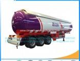 3axles 56000L 25mt LPG Gas Transportation Tank Trailer S516 Material LPG Tank LPG Semi Trailer