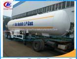 2axles LPG Gas Pipe Trailers LPG Gas Transport Tankers LPG Trailer LPG Tank Truck Trailer High Press
