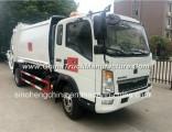 6 Cubic Meters Sinotruk Compressor Garbage Truck 4X2