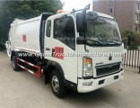 Sinotruk HOWO 4X2 116HP Compress Garbage Truck for Sale