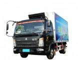 141HP Sinotruk HOWO 4X2 Refrigerated Truck 19 Cubic Capacity