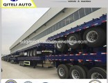 40FT 2 Axle 40t Container Loading Semi Trailer Flatbed Trailer for Sale