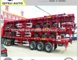 Fuwa Axles 3 Axles 40 Tons Flatbed Semi Trailer