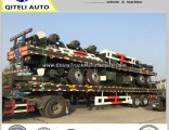 2axle 3axle 20FT 40FT Container Transport Flatbed Semi Trailer for Sale