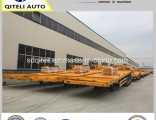 3 Axle 40FT Container Flatbed Semi Trailer with Twist Lock