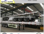Chinese Manufacture 3 Axles Flatbed Container Semi Trailer