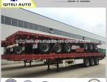 3 Axles Flatbed Semi Trailer / 40FT Container Semi-Trailer