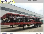 3 Axles Utility Flat Bed Flatbed Semi Truck Trailer