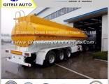 Three Axle Carbon Steel 40000L Oil Tank Fuel Tanker Semi Trailer