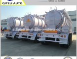 3 Axle 45m3 Chemical Liquid Tank Semi Trailer for Sulfuric Acid Transporter