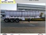 40000L Oil Fuel Tanker Transportation Stainless Steel Acid Tank Semi Trailer/Truck Trailer