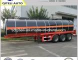 3 Axle 30cbm -55cbm Petrol Fuel Oil / Asphalt Bitumen / Water Tanker Trailer for Sale