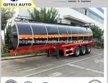 3 Axles Heating Asphalt Semi Truck Tractor Tanker Bitumen Tank Semi Trailer