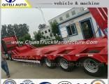 3 Axles Heavy Duty Lowbed Semi Truck Trailer