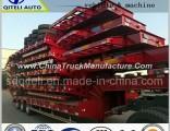 3 Axles 60tons Heavy Duty Low Bed Lowboy Truck Trailer/Cement Tank Trailer/Tanker Truck Semi Trailer