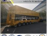 Four Axle Lowbed/ Lowdeck/ Low Platform Cargo Heavy Truck Semi Trailer