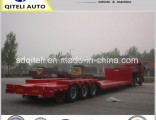 60tons Excavator Transport Hydraulic Ramp Lowbed Semi Trailer Low Bed Trailer