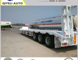 3 Axle 80 Ton Heavy Duty Gooseneck Low Loader/Lowbed/ Lowboy Low Bed Trailer Price Truck Semi Traile