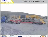 3 Axles Transport Heavy Machines Low Bed Trailer