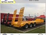 80t Tri Axle Lowbed/ Lowdeck/ Low Platform Cargo Heavy Truck Semi Trailer