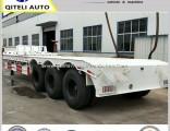 3 Axle 60 Ton Lowbed Semi Trailer Dolly Trailer Hydraulic Ramp Lowboy Trailer