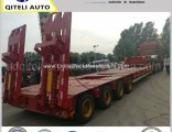 2/3/4 Axles 50/60/80 Tons Low Bed Drop Deck Heavy Duty Semi Trailer