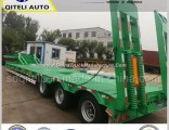 Tri Axle Lowbed/ Lowdeck/ Low Platform Cargo Heavy Truck Semi Trailer
